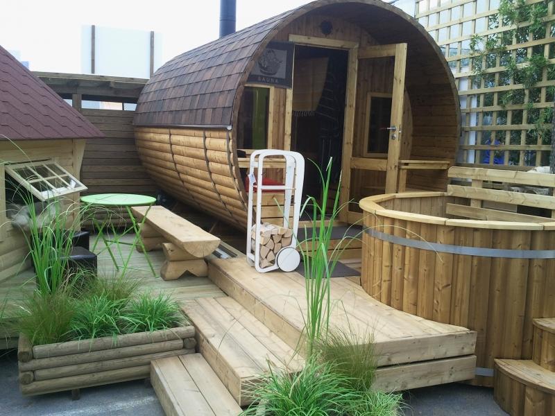 Sauna DExterieur Avec Pole  Bois  In Viridis Le Naturel A Du